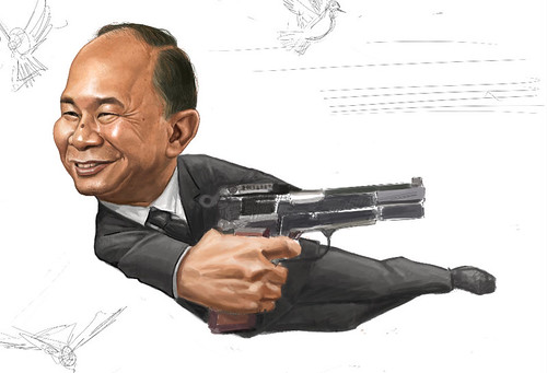 digital sketch of John Woo - 9