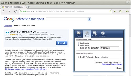 Chromium & Xmarks + MeeGo = Awesome