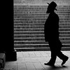 A Jewish Silhouette (CVerwaal) Tags: nyc newyorkcity newyork man hat pen beard centralpark silhouettes olympus jews om orthodox zuiko bethesdaterrace olympusep2