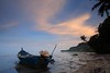 loneliness... (ChR!s H@rR!0t) Tags: sunset nature boat penang
