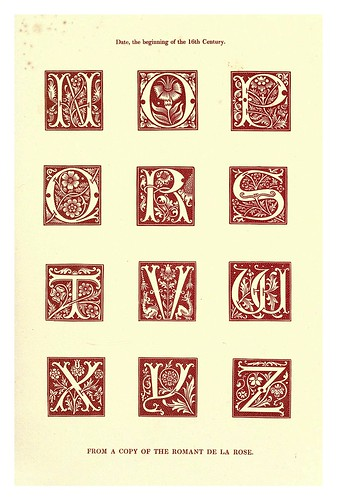 010-Principios siglo XVI-The hand book of mediaeval alphabets and devices (1856)- Henry Shaw