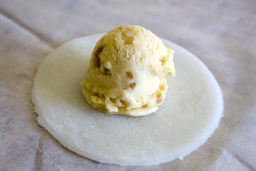 Butterfinger Mochi Ice cream