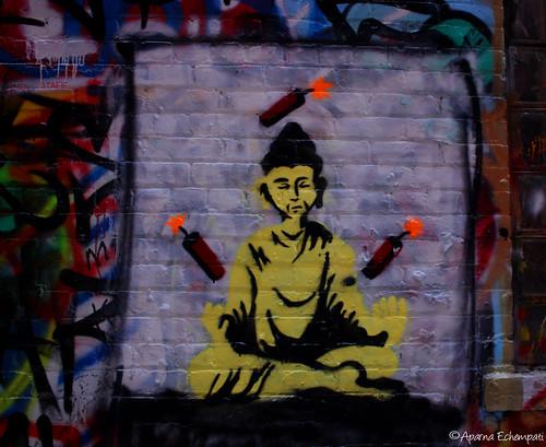 Buddha juggling dynamite ....??