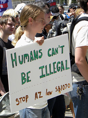 Protest against immigration laws and a call to remove Fort Snelling (Fibonacci Blue) Tags: arizona signs history minnesota sign march photo spring message please native fort indian rally banner protest may picture cities historic demonstration photograph american papers signage illegal ft law twincities mendota activism imperialism genocide mn protester immigration deportation boycott immigrant activist racial 2010 profiling reform protestor snelling 1070 colonialism proposed indiginous deport mirac immigrate sb1070
