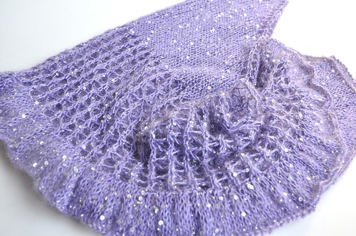 beaded mohair shawlette-7