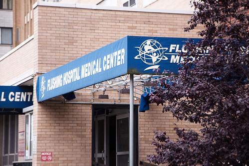 Flushing Hospital entrance