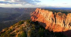 The Grand Canyon's South Rim at Sunset (JIMWICh) Tags: road trip sunset vacation arizona southwest honda nationalpark grandcanyon sightseeing scenic lookout adventure riding journey solo motorcycle paloalto southrim vfr jimwich