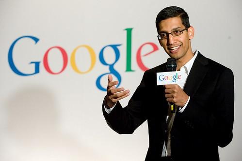 Google全球副總裁Sundar Pichai (Google提供)