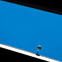 the observer (baaasti) Tags: camera blue building canon security lookup 2470