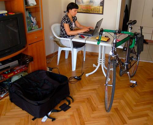 Bike & Bag (& Girl & Computer)