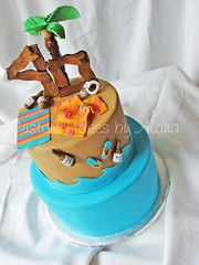 Randy (alana_hodgson) Tags: beach water cake shirt sand towel palmtree flipflops budlight handcuffs sweettreats