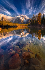 Leigh Lake Reflections, Grand Teton National Park (Chip Phillips) Tags: park mountains sunrise reflections spring rocky grand jackson mount national wyoming tetons moran ostrellina