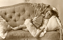 Sleeping on the sofa (lovedaylemon) Tags: history sepia vintage found photography 1 photographer album southwold photohistory jenkins peggie