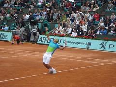 Rafael Nadal, au service