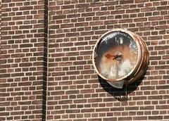 Die Zeit ist abgelaufen... (sonjasfotos) Tags: old urban abandoned clock vintage factory alt decay fabrik ruine rotten desolate uhr kaputt backstein