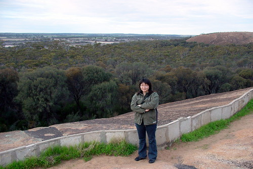 Perth - Hyden - on top of the Wave Rock