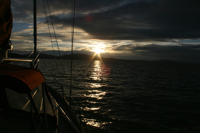 Sunset at Anchor in San Pablo Bay