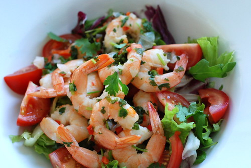 krevetisalat laimi ja koriandriga/shrimp salad with lime and coriander (cilantro)