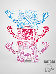 Paper Totem! x Katari (Dolly Oblong) Tags: paper designer totem custom dolly collect dollies customs designertoy katari freedownload papertoy dollyoblong papertotem