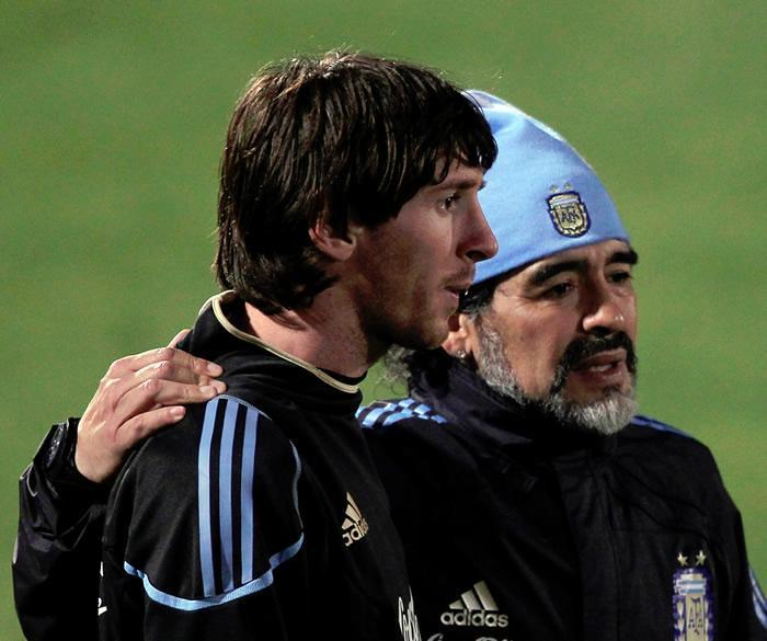 Diego Maradona Lionel Messi Mundial