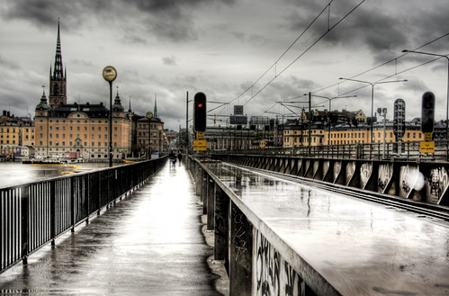 Stockholm. By the railroads. Estocolmo. Junto a las vías