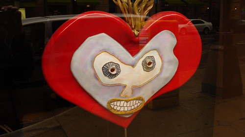 06/12/10 Randowm Artwork in Store Window Display  - Minneapolis, MN