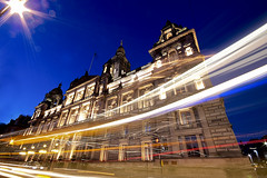Glasgow City Council (Michael Echteld) Tags: city uk longexposure scotland michael nightshot unitedkingdom glasgow lighttrails lightstreaks glasgowcitycouncil eapc konicaminoltadynax5d minoltadynax5d echteld
