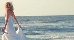 wave (Kirill Oleynikov) Tags: ocean white dress wave bridal breeze sandal cinderela