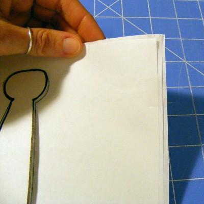 Freezer Paper Stencil step 2