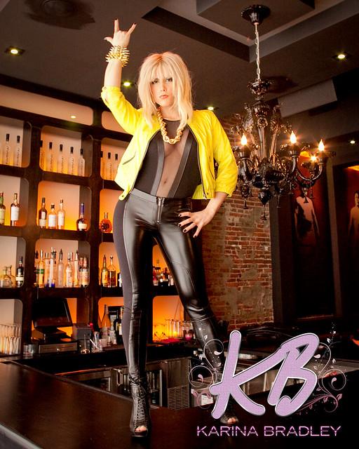 Karina Bradley Standing on the Bar!! by karinabradleymusic