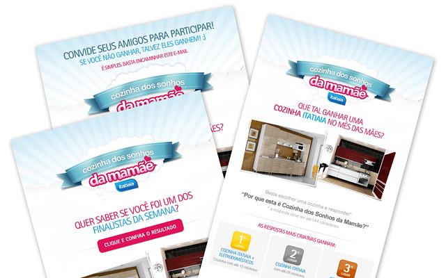 O e-mail marketing foi o principal canal de comunicação digital com os participantes