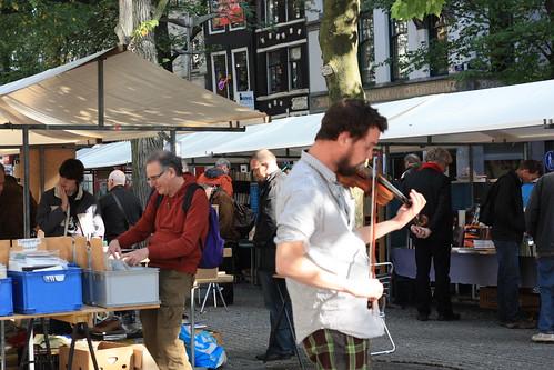 Feira de livros em Amsterdam