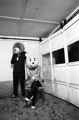 Sam (mattbellphoto) Tags: portrait blackandwhite bw film 35mm kodak delta teddybear nikonf2 ilford pushprocess xtol 24mmf28