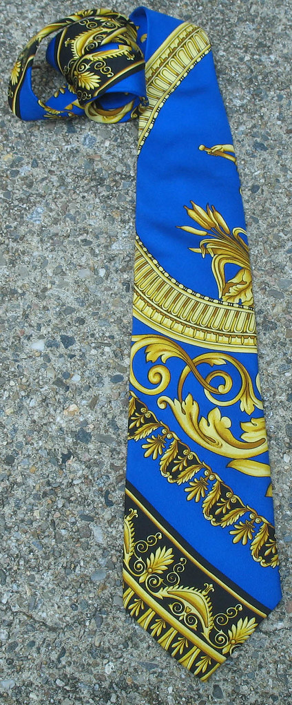 RARE Vintage HAUTE COUTURE Gianni Versace Silk Necktie