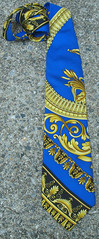 RARE Vintage HAUTE COUTURE Gianni Versace Silk Necktie (Angel Grace Jewelry, Womens Belt Buckles, Snap On ) Tags: blue italy black men classic fashion yellow vintage gold golden italian designer gorgeous silk dramatic tie mens statement accessories etsy baroque hautecouture striking runway rare couture 1990s gianni 90s versace necktie bold stylish madeinitaly accessory highend predeath neckwear 100silk gianniversace coablt angelgrace vintagetreasureangel