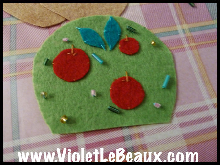 Tree Felt Key Chain