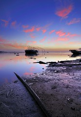 Pollution is every where (Talal Al-Duolye) Tags: pink sea sky seascape landscape nikon filter pollution lee land kuwait scape pinksky  talal doha q8 d300 kwt   a leefilter  dohasunset