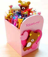 Rilakkuma Pens (applel0ve) Tags: wood pink blue red orange brown black cute green bird colors ball hearts lights fan wooden rainbow portable colorful box 04 bears lavender polka led collection container kawaii pearl highlighters pens dots 2008 figures 2009 markers pilot holder 2010 lightblue kuma scented rilakkuma sanx lightpink  hitecc felttippen erasable fluorescentgreen korilakkuma kiiroitori fluorescentyellow fluorescentpink fluorescentorange fluorescentblue frixion fluorescentred colortwinpen  2