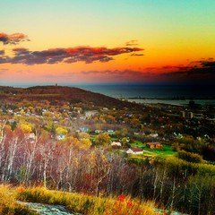 Duluth Hillside in Autumn [explored] (Emily Bemily) Tags: cameraphone with an smartphone mobilephone apps iphone flickup rose taken iphone4 emily iphonography iphone iphoneography iphoneographer bemily