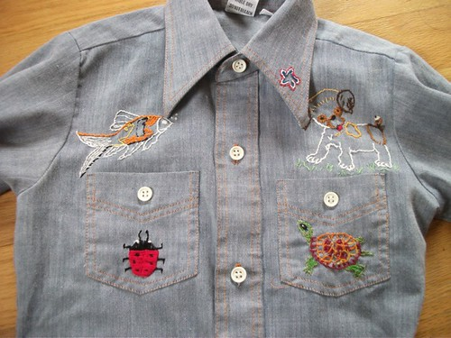 Pearl's cowgirl shirt - front embroidery