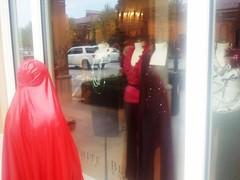 Window Shopping (latexladyll) Tags: public fetish shopping rubber latex burqa