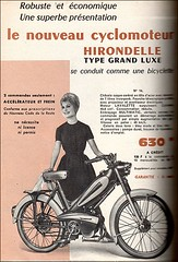 the 1960s-ad for moped (april-mo) Tags: vintage ads moped 1963 vintagead the1960s vintagemoped 1960sad manufrancestetienne vintagehirondellemoped