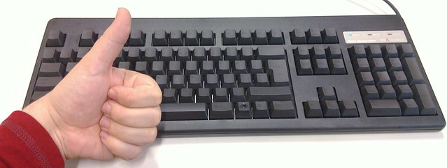 Image of Black Topre Realforce 105U keyboard