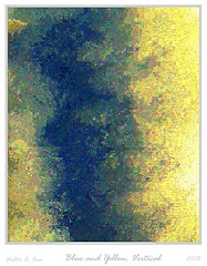 Blue and Yellow, Vertical (Walter A. Aue) Tags: painterly colors modern painting drawing computerart pointilism paintinglike digitallyaltered photographbased