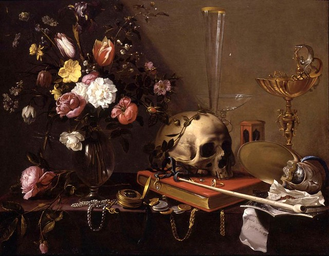 adriaen-van-utrecht-vanitas-still-life-with-a-bouquet-and-a-skull