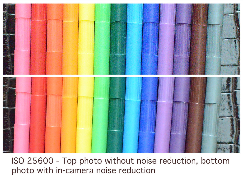 Noise Reduction at ISO 25600