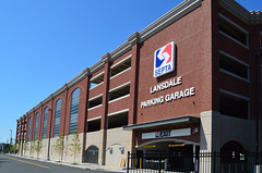 Lansdale_Station_Garage_side_entrance (Montgomery County Planning Commission) Tags: septa montgomerycountypa lansdaleborough garage parking trainstation