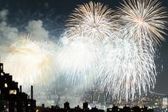 4th of July 2017 Macy's Fireworks-74 (Diacritical) Tags: brooklyn nycmacys nikond4 pattern 70200mmf28 30secatf71 july42017 85002pm f71 230mm 4thofjuly fireworks macysfireworks nyc night skyline