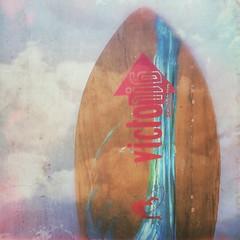 Skim (BLACK EYED SUZY) Tags: summer beach surf woody vintage victoriaskimboards skimboard