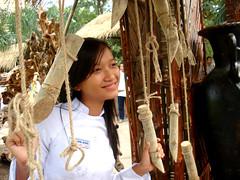 smile (smallsmallsand) Tags: white girl smile vietnamese vietnam dai ao aodai
